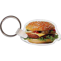 Hamburger Key Tag