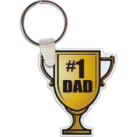Number 1 Dad Trophy Key Tag