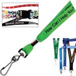 Polyester Lanyard with Woven Imprint