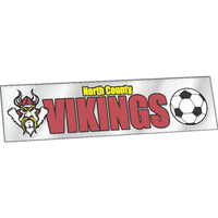"Clear Polyester Rectangle Bumper Sticker (3""x11 1/2"")"