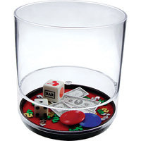 12oz Plastic Compartment Tumbler - Casino Themes