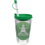 16 oz. Thermal Double Wall Travel Tumbler - Clear Insert