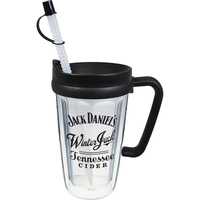 16oz Thermal Double Wall Travel Mug with Lid and Handle