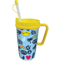 16oz Thermal Double Wall Travel Mug with Lid & Handle
