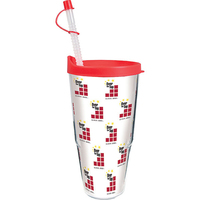 24 oz Thermal Double Wall Travel Tumbler w/Lid