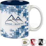 Two-Tone - 11 oz White Mug w/Color Accents