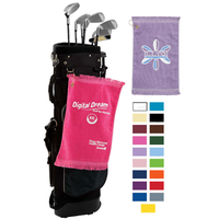 Premium Fringed Velour Golf Towels