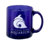 13 oz. Glass Coffee Mug (Blue)