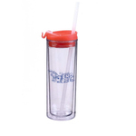 14 oz. Double wall bottle sip top tumbler with straw
