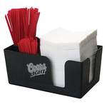 Napkin Caddy / Holder with 4 Straw Pockets