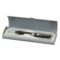 Deluxe Gray Accented Plastic Pen Gift Box