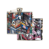 5 oz. Stainless Steel Hip Flask w/ Full Wrap 4 Color Process