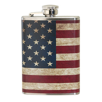 4 oz. Slim Stainless Steel Hip Flask w/Full Wrap 4 Color