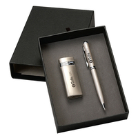 Metal Turbo Lighter And Executive Pen Gift Set