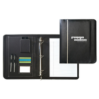 Leatherette Zippered Binder Padfolio