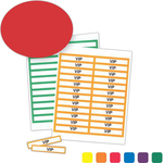 "4"" x 3/4"" Colored Border Classic Paper Name Badge Insert"