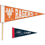 "4"" x 10"" Colored Felt Pennant with 1"" Sewn Strip"