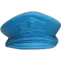Police Cap Pencil Top Eraser