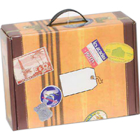 """12-1/4"""" x 9-1/2"""" x 4"""" - Large Suitcase Box"""