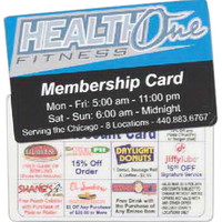 Standard Laminated Membership Card