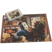 Puzzle in a Two Piece Tin