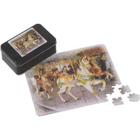 Thirty-Five Piece Puzzle In Tin