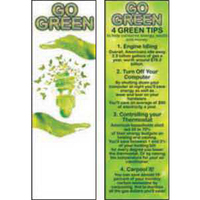 Go Green Bookmark