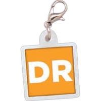 Square Badge Reel Charm