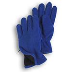 Gloves - Royal Blue Fleece Zipper Gloves