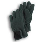 Gloves - Hunter Green Fleece Zipper Gloves