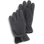Gloves - Charcoal Gray Fleece Zipper Gloves