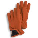 Gloves - Orange Fleece Zipper Gloves