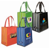 RPET Striped Tote Bag, Full Color Digital