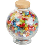 Glass Globe World Earth Jar Large with Cashews