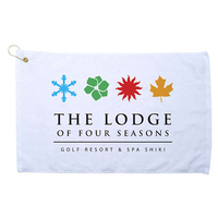 Diamond Collection Golf Towel - White