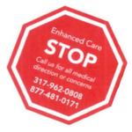 Stop Sign Shaped Custom Magnet