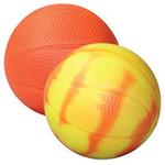 "Orange/Yellow ""Mood"" Basketball Stress Reliever"