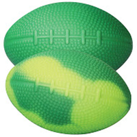 "Squeezies® Green/Yellow ""Mood"" Football Stress Reliever"