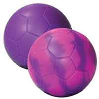 "Purple/Pink ""Mood"" Soccer Ball Stress Reliever"