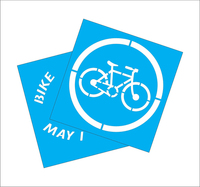 Bike to Work Week Sidewalk Stencil Kit
