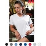 Womens Short Sleeve Textured Mesh Tee
