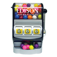 Jackpot Slot Machine Dispenser with Candy Covered Chocolate