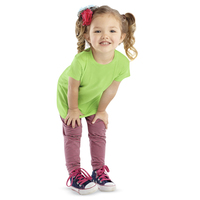 Rabbit Skins Toddler Girl's Fine Jersey Longer T-Shirt