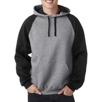 Adult NuBlend (R) Color Block Raglan Hooded Sweatshirt