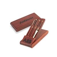 Wood Triple Pen Gift Box