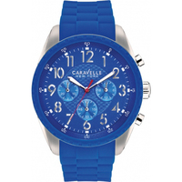 Caravelle New York by Bulova Watch Men's Silicone Chr
