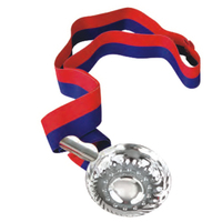 Classic Tastevin, Silver Plated With Ribbon Set