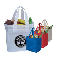 """10"""" Eco Grocery Tote With Side Pockets"""