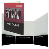 Three-panel folder