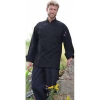 Stud Button Executive Chef Coat - Black